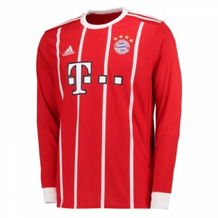 2017-2018 Bayern Munich Adidas Home Long Sleeve Shirt