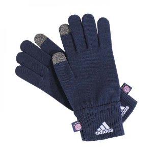 2017-2018 Bayern Munich Adidas Knitted Gloves (Navy)