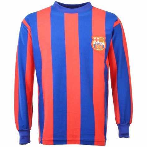 Barcelona 1960s Retro Football Shirt