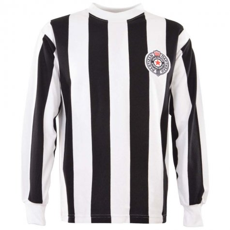 Partisan Belgrade 1960s Retro Football Shirt
