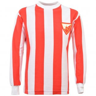 Red Star Belgrade 1960s Retro Football Shirt