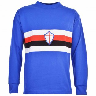 Sampdoria 1970s Retro Football Shirt