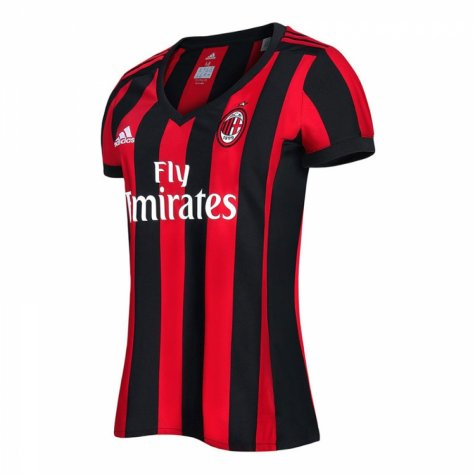 2017-2018 AC Milan Adidas Home Womens Shirt