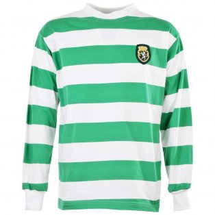 Sporting Lisbon 1950s-1960s Retro Football Shirt