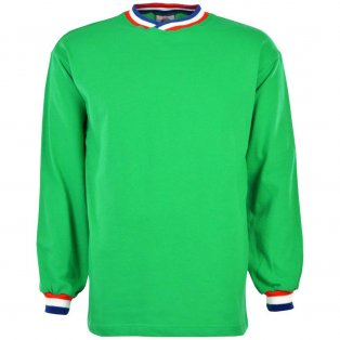 St Etienne Long Sleeve Retro Football Shirt