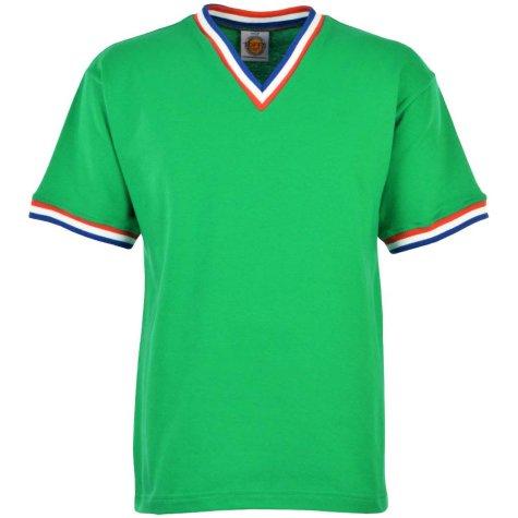 St Etienne Short Sleeve Retro Football Shirt