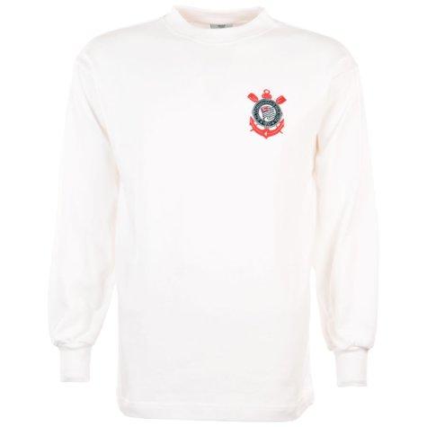 Corinthians Paulista 1970s Retro Football Shirt
