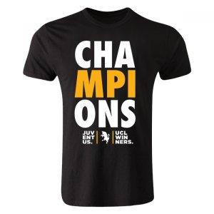 Juventus Champions League Winners T-shirt (Black) - Kids