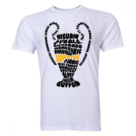Juventus Champions League Trophy Winners T-shirt (White)