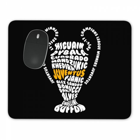 Juventus CL Trophy Winners MousePad (Black)