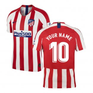 2019-2020 Atletico Madrid Vapor Match Home Shirt (Your Name)