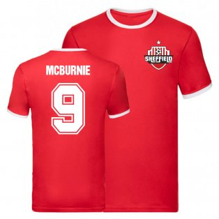 Oli McBurnie Sheffield United Ringer Tee (Red)