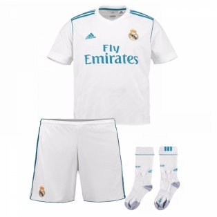 2017-2018 Real Madrid Adidas Home Full Kit (Kids)