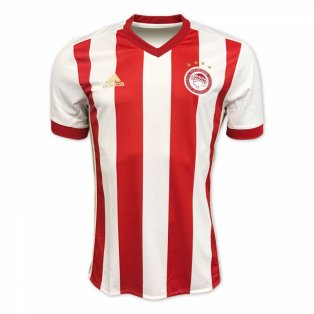 2017-2018 Olympiakos Adidas Home Football Shirt