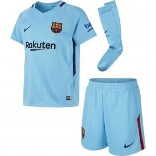2017-2018 Barcelona Away Nike Little Boys Mini Kit
