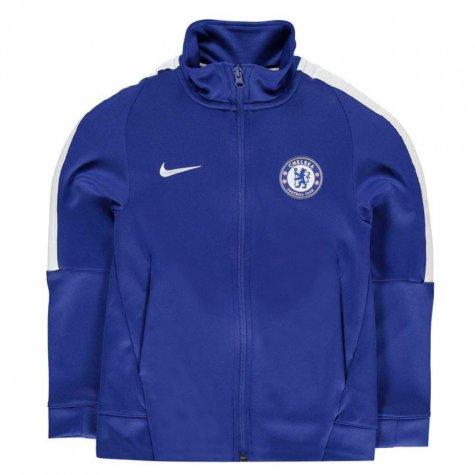 2017-2018 Chelsea Nike Authentic Track Jacket (Blue) - Kids