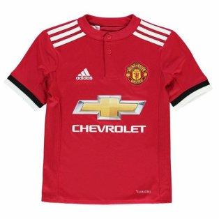 2017-2018 Man Utd Adidas Home Football Shirt (Kids)