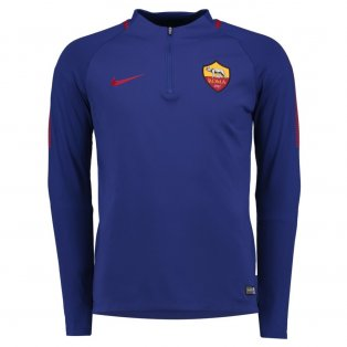 2017-2018 AS Roma Nike Drill Training Top (Royal Blue) - Kids