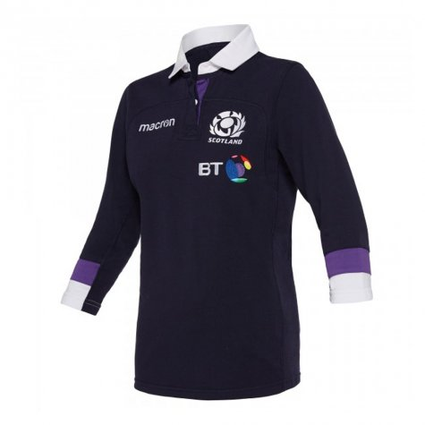2017-2018 Scotland Macron Home Womens Cotton Rugby Shirt
