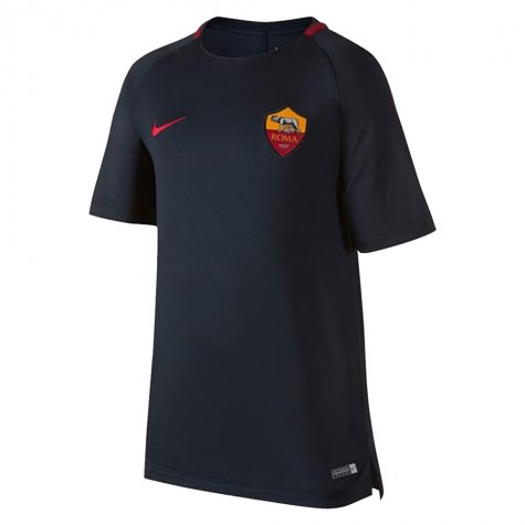 2017-2018 AS Roma Nike Training Shirt (Dark Blue) - Kids