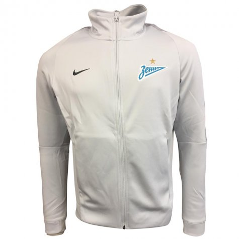 2017-2018 Zenit St Petersburg Nike Authentic Franchise Jacket (Platinum)