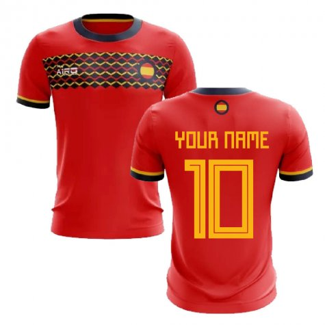 2020-2021 Spain Home Concept Football Shirt (Your Name)