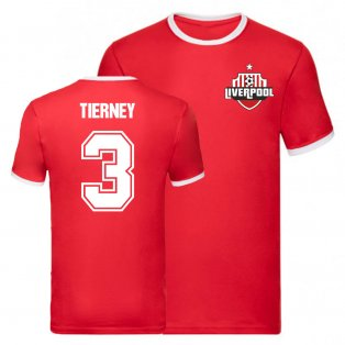Kieran Tierney Arsenal Ringer Tee (Red)