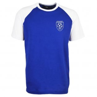 Finland Raglan Sleeve Royal/White T-Shirt