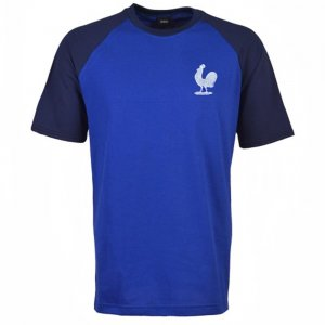 France Raglan Sleeve Royal/Navy Retro T-Shirt