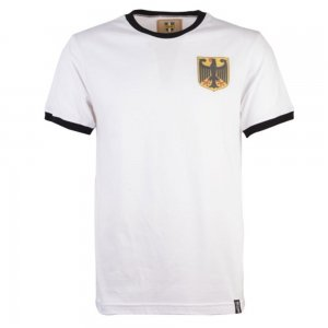 Germany 12th Man Retro T-Shirt - White/Black Ringer