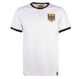 Germany 12th Man Retro T-Shirt - White/Black Ringer
