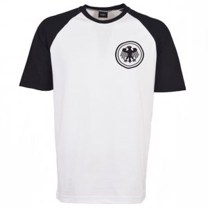 Germany Raglan Sleeve White/Black Retro T-Shirt