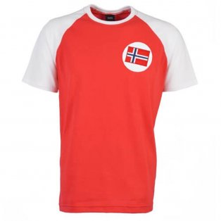 Norway Raglan Sleeve Red/White Retro T-Shirt