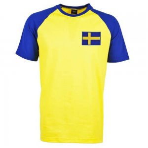 Sweden Raglan Sleeve Yellow/Royal Retro T-Shirt