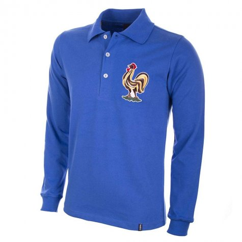 France 1950's Long Sleeve Retro Football Shirt