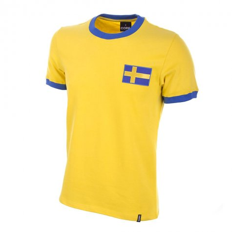 Sweden 1970's Short Sleeve Retro Football Shirt