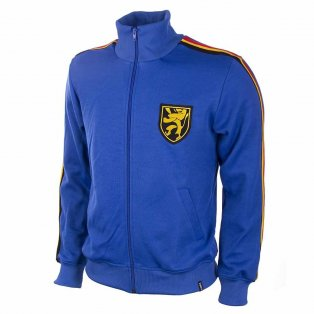 Belgium 1970 Retro Football Jacket (Blue)