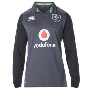 2017-2018 Ireland Alternate LS Classic Rugby Shirt