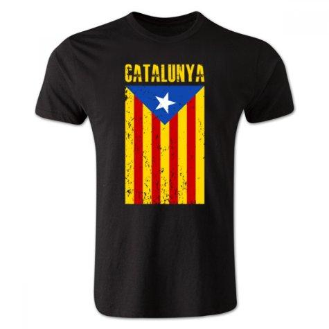 Catalonia Flag T-Shirt (Black) - Kids