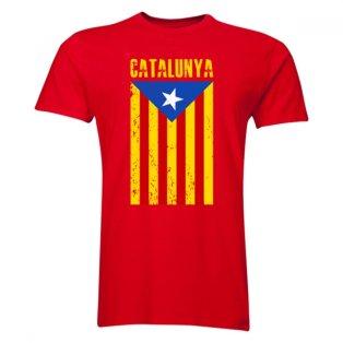 Catalonia Flag T-Shirt (Red) - Kids