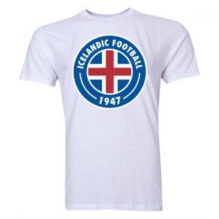 Iceland Core Logo T-Shirt (White) - Kids