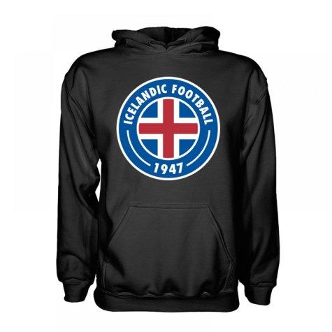 Iceland Core Logo Hoody (Black) - Kids