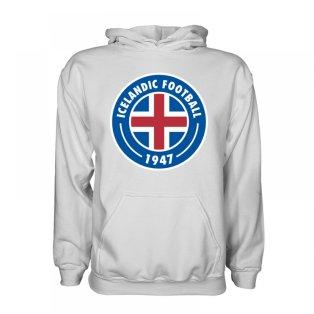 Iceland Core Logo Hoody (White) - Kids