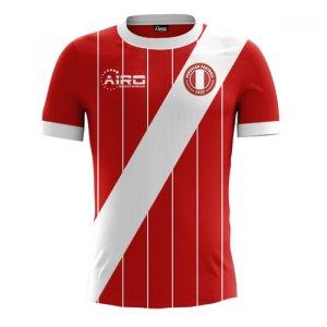 2017-2018 Peru Away Concept Football Shirt