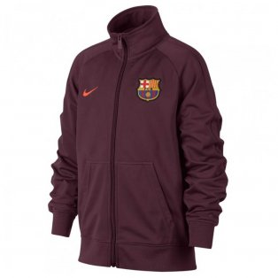 2017-2018 Barcelona Nike Core Trainer Jacket (Night Maroon) - Kids