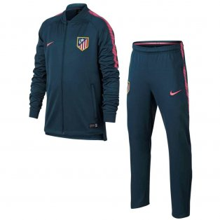 2017-2018 Atletico Madrid Nike Woven Tracksuit (Space Blue) - Kids