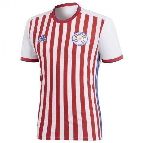 2018-2019 Paraguay Home Adidas Football Shirt