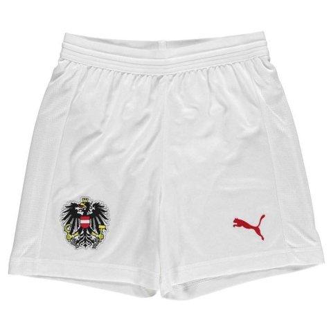 2018-2019 Austria Puma Home Shorts (White) - Kids