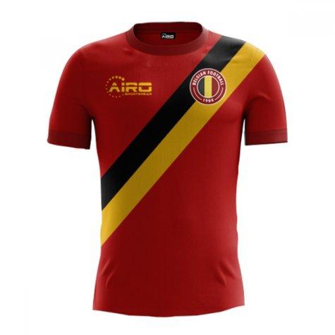 91ee61b0c4d 2018-2019 Belgium Home Concept Football Shirt (Kids)  BELGIUMHKIDS ...