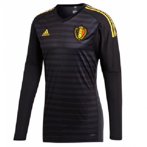 efa9e1f8dbf 2018-2019 Belgium Home Adidas Goalkeeper Shirt  CD6169  - Uksoccershop